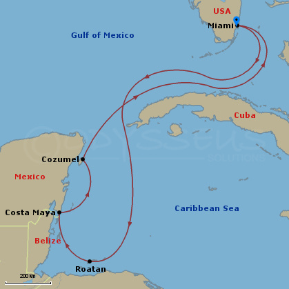 Itinerary map - Allure of the seas fort lauderdale port address ...